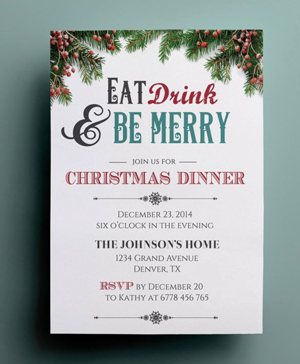 48 Dinner Invitation Templates Psd Vector Eps Ai