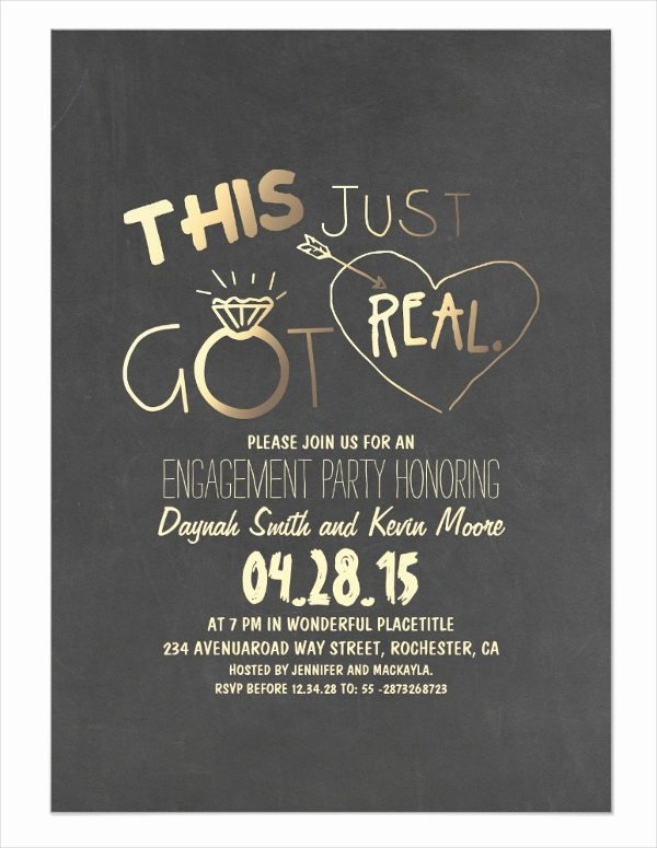 48 Printable Engagement Invitation Templates Psd Ai