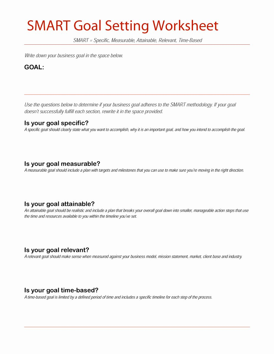 48 Smart Goals Templates Examples & Worksheets Free