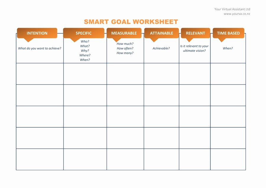 48 Smart Goals Templates Examples & Worksheets Template Lab