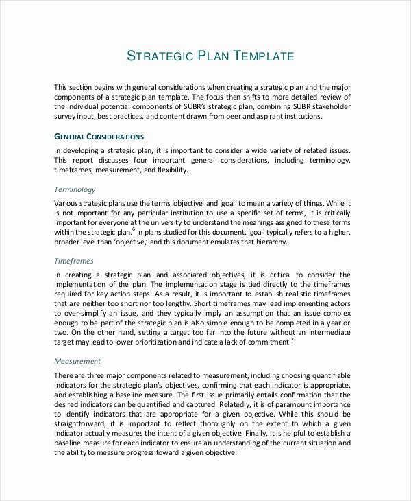 49 Examples Of Strategic Plans