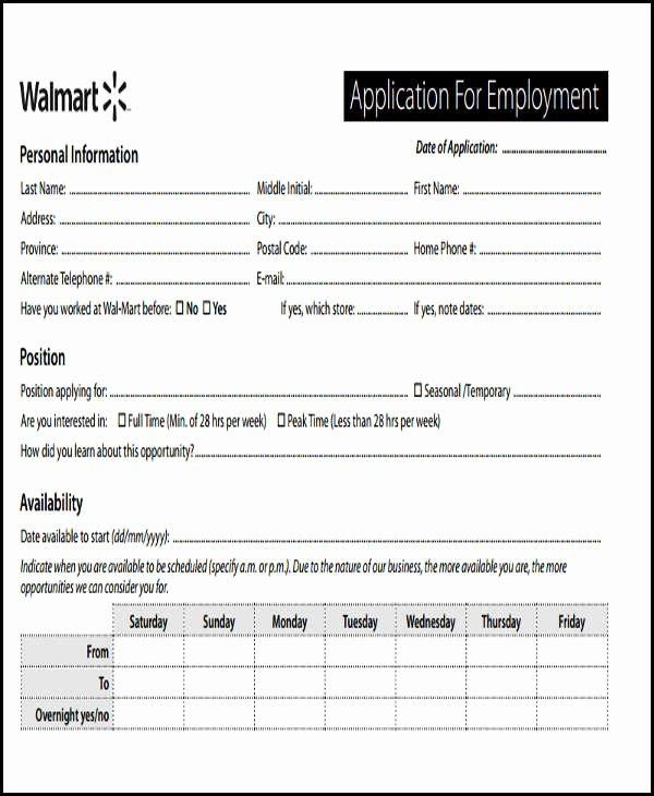 49 Job Application form Templates