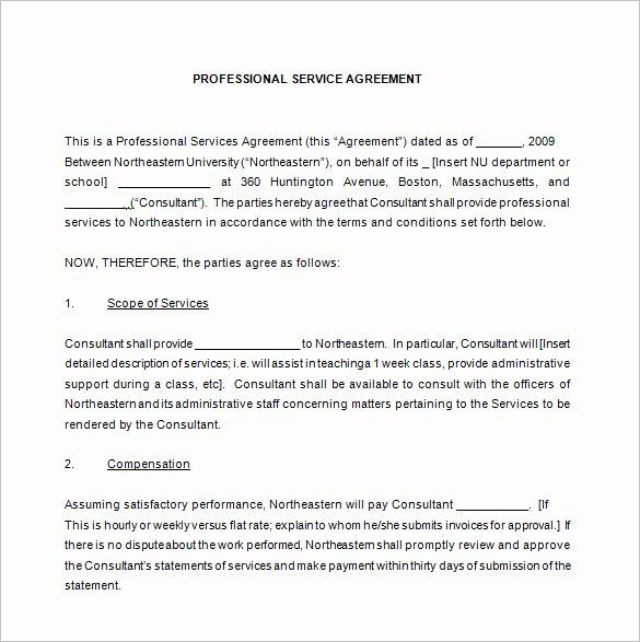 49 Monthly Service Agreement Template Monthly Service
