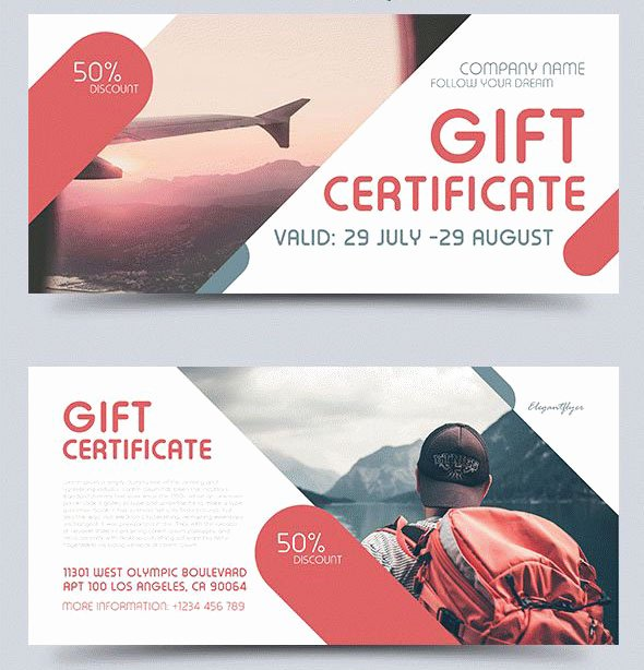 49 Premium & Free Psd Professional Gift Certificates Templates for Business Ideas
