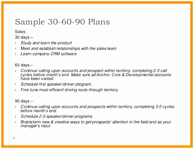 5 30 60 90 Day Sales Plan Template Free Sample Draum