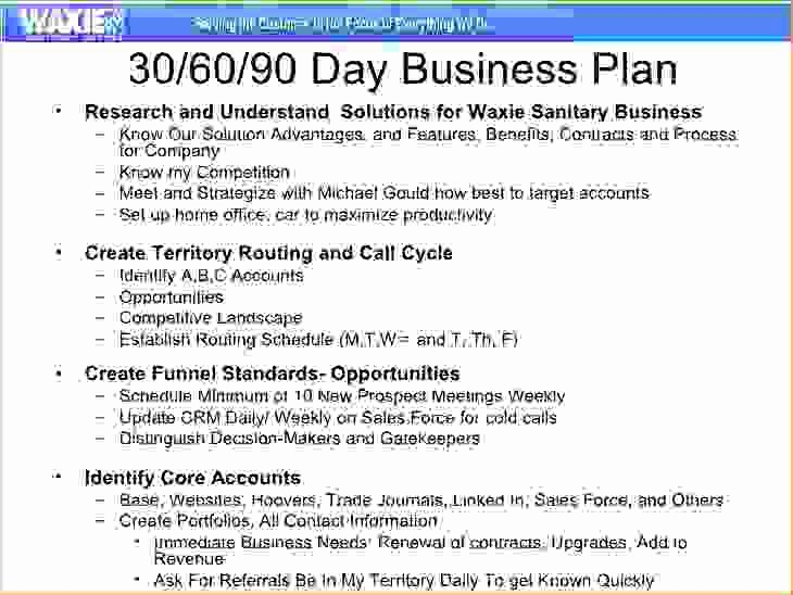 5 30 60 90 day sales plan template