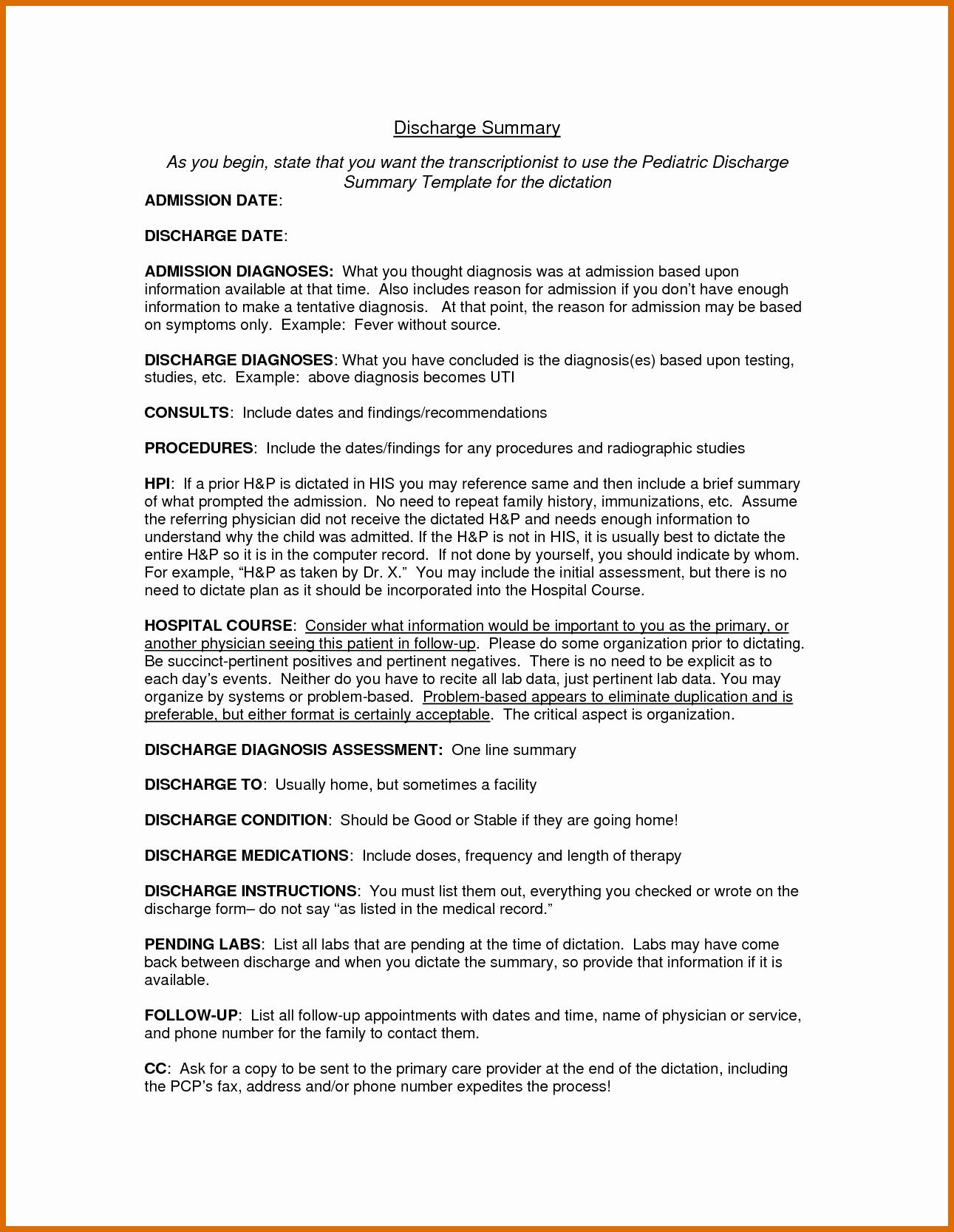 5 6 Discharge Summary Example