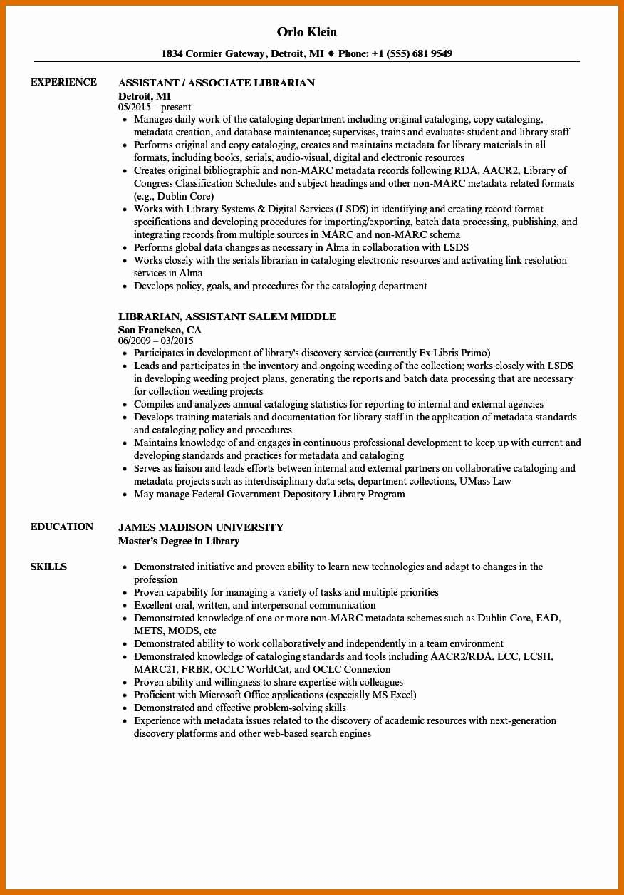 5 6 Library assistant Resume