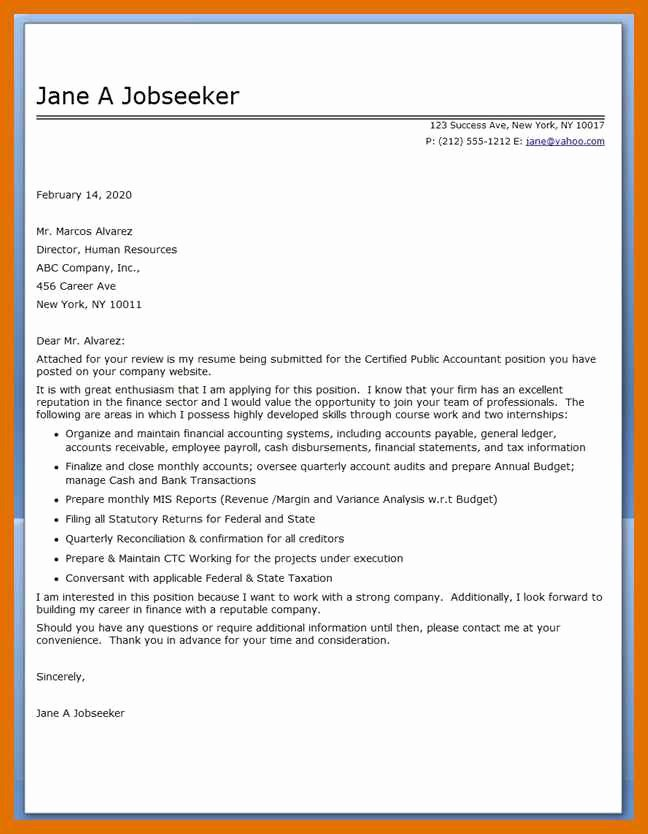 5 6 Mortgage Loan Processor Cover Letter