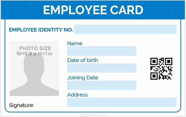 5 Best Employee Id Card format In Word