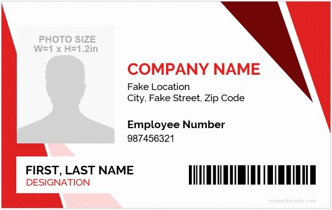 5 Best Employee Id Card format In Word