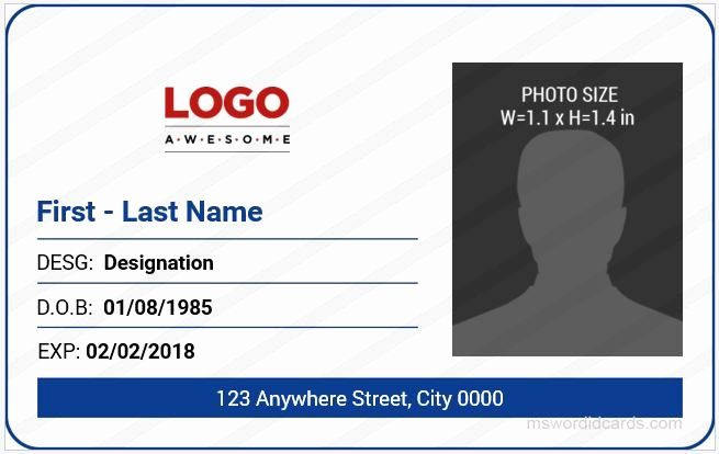 5 Best Fice Id Card Templates Ms Word