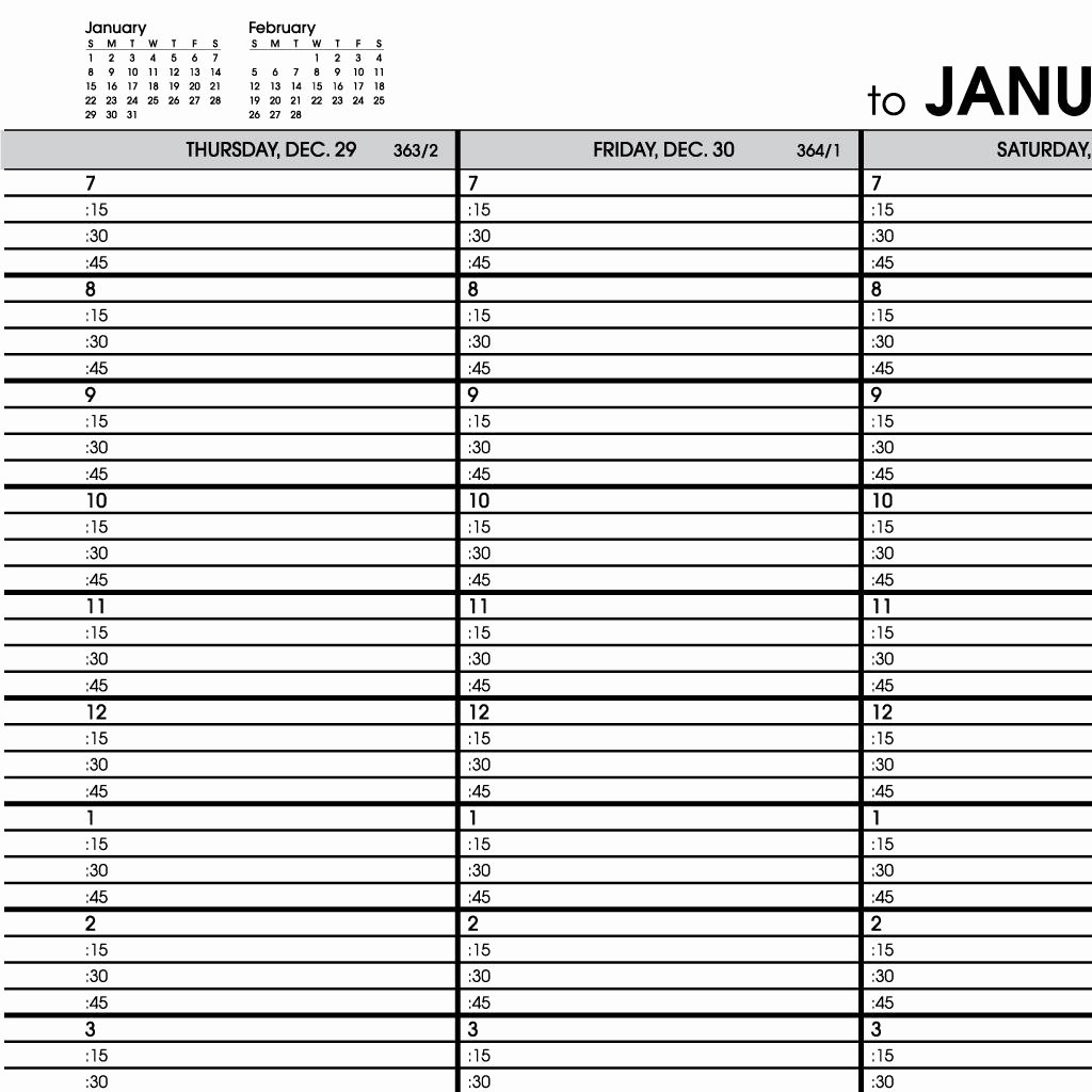 5 Best Of 2015 Printable Appointment Book Pages