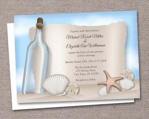 post beach wedding invitations printable