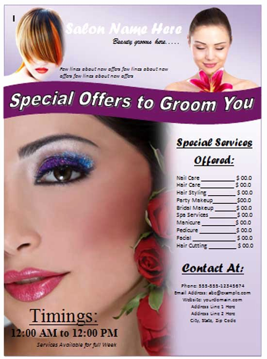 5 Best Of Beauty Salon Grand Opening Flyer Hair