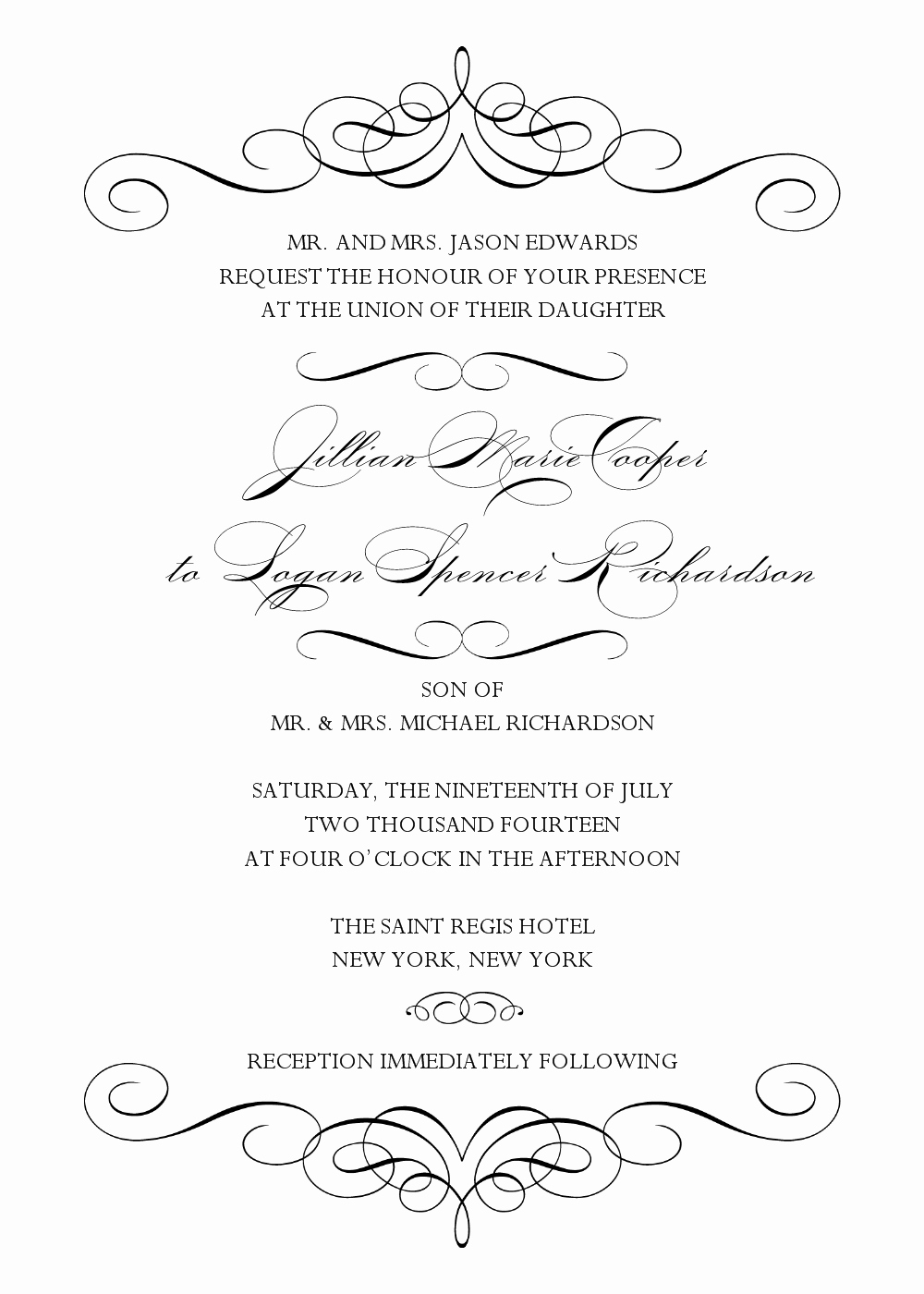 5 Best Of Black and White Wedding Invitation Templates Printable Black Wedding
