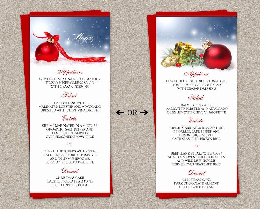 5 Best Of Christmas Dinner Menu Printable Free