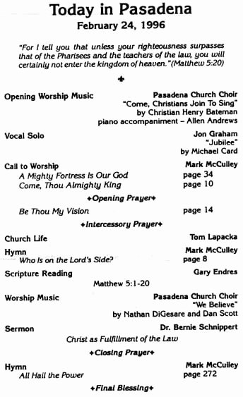5 Best Of Church Programs order Service Church