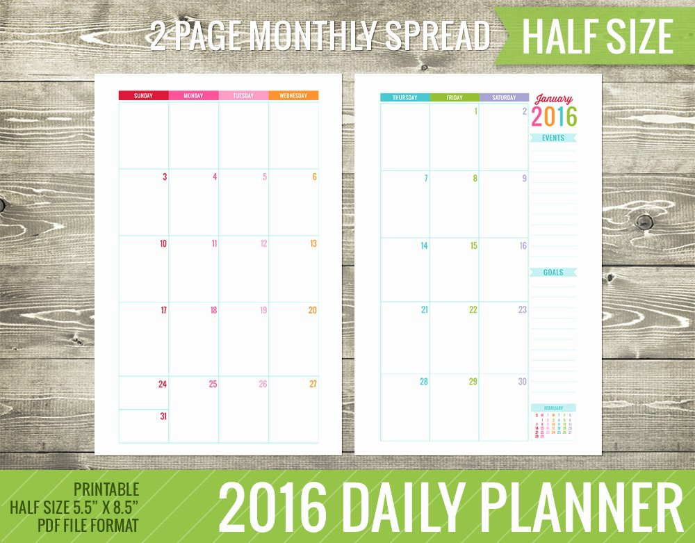 5 Best Of Free 8 X 11 Printable Weekly Planners