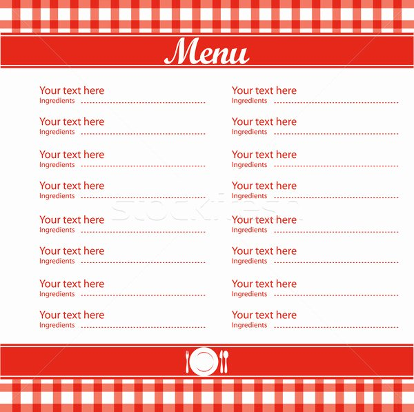 post free blank printable template restaurant menus