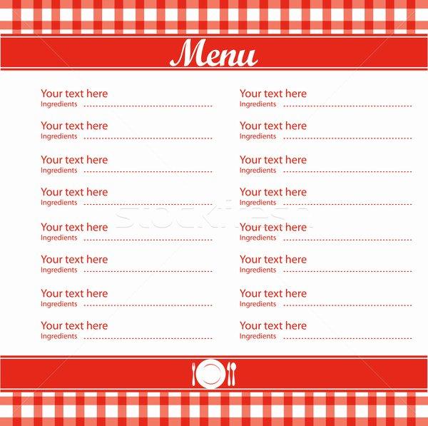 5 Best Of Free Blank Printable Template Restaurant