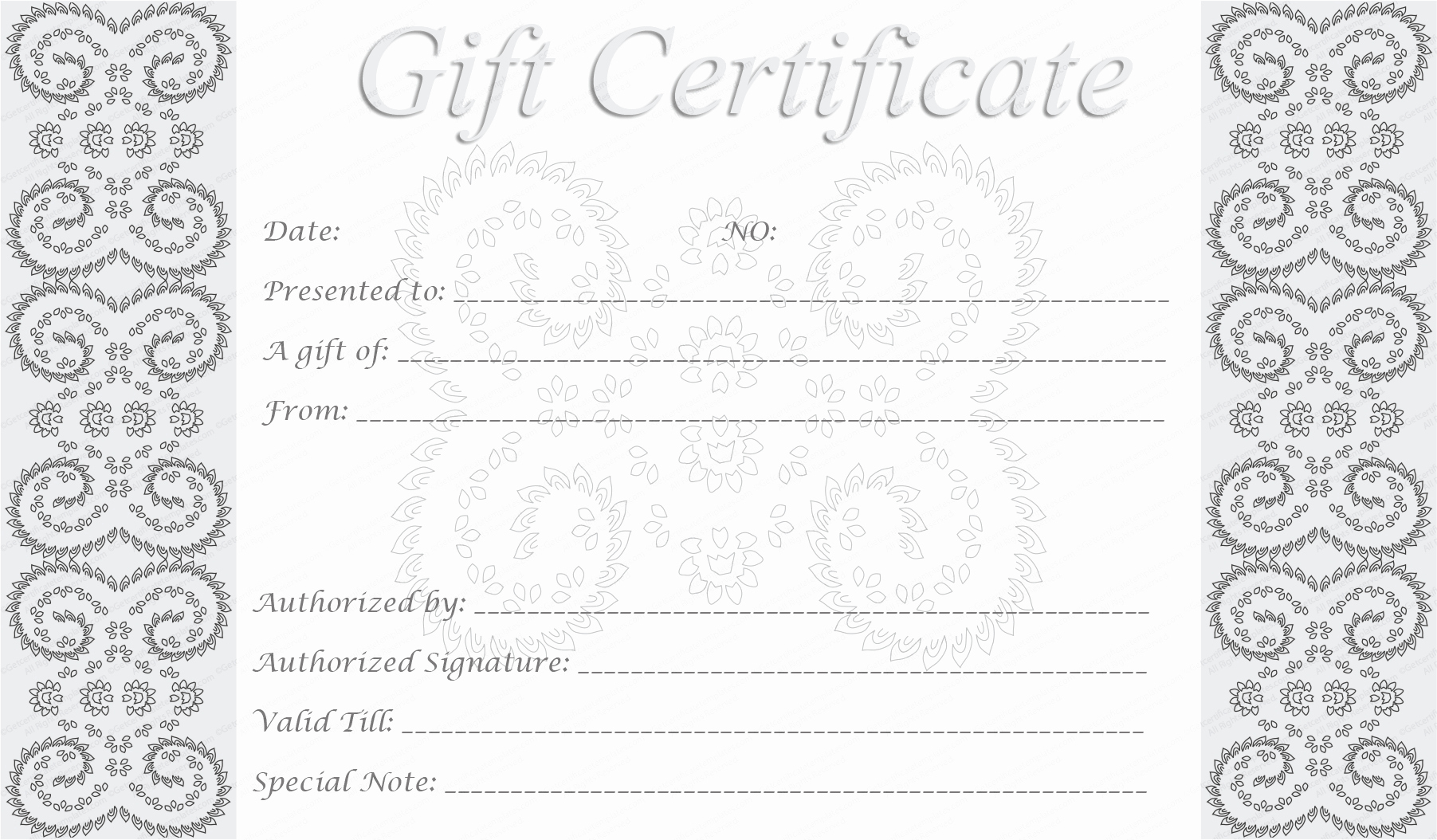 5 Best Of Free Editable Printable Gift Certificates