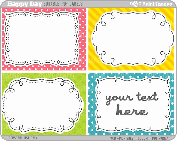 5 Best Of Free Editable Printable Labels Templates