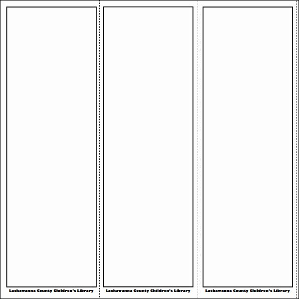 5 Best Of Free Printable Blank Bookmarks Free