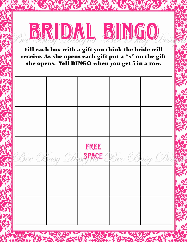 5 Best Of Free Printable Blank Bridal Bingo