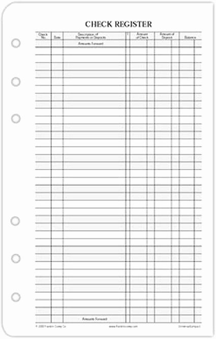 5 Best Of Free Printable Check Register Checkbook
