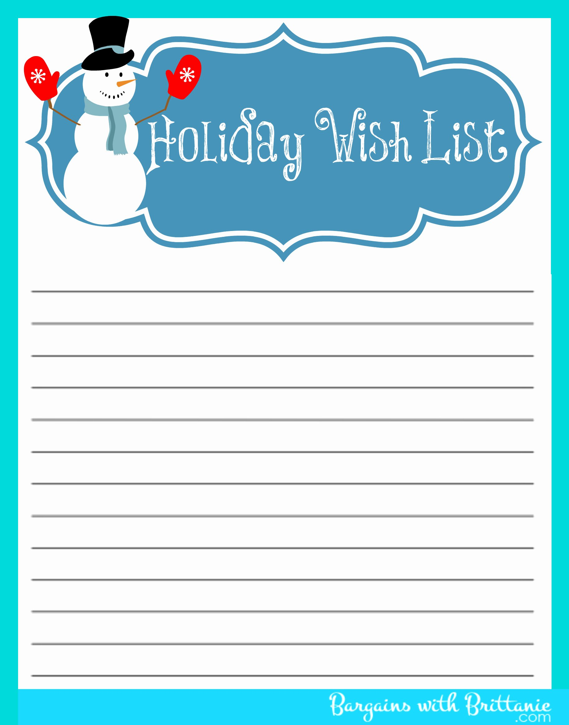 5 Best Of Free Printable Christmas List Maker