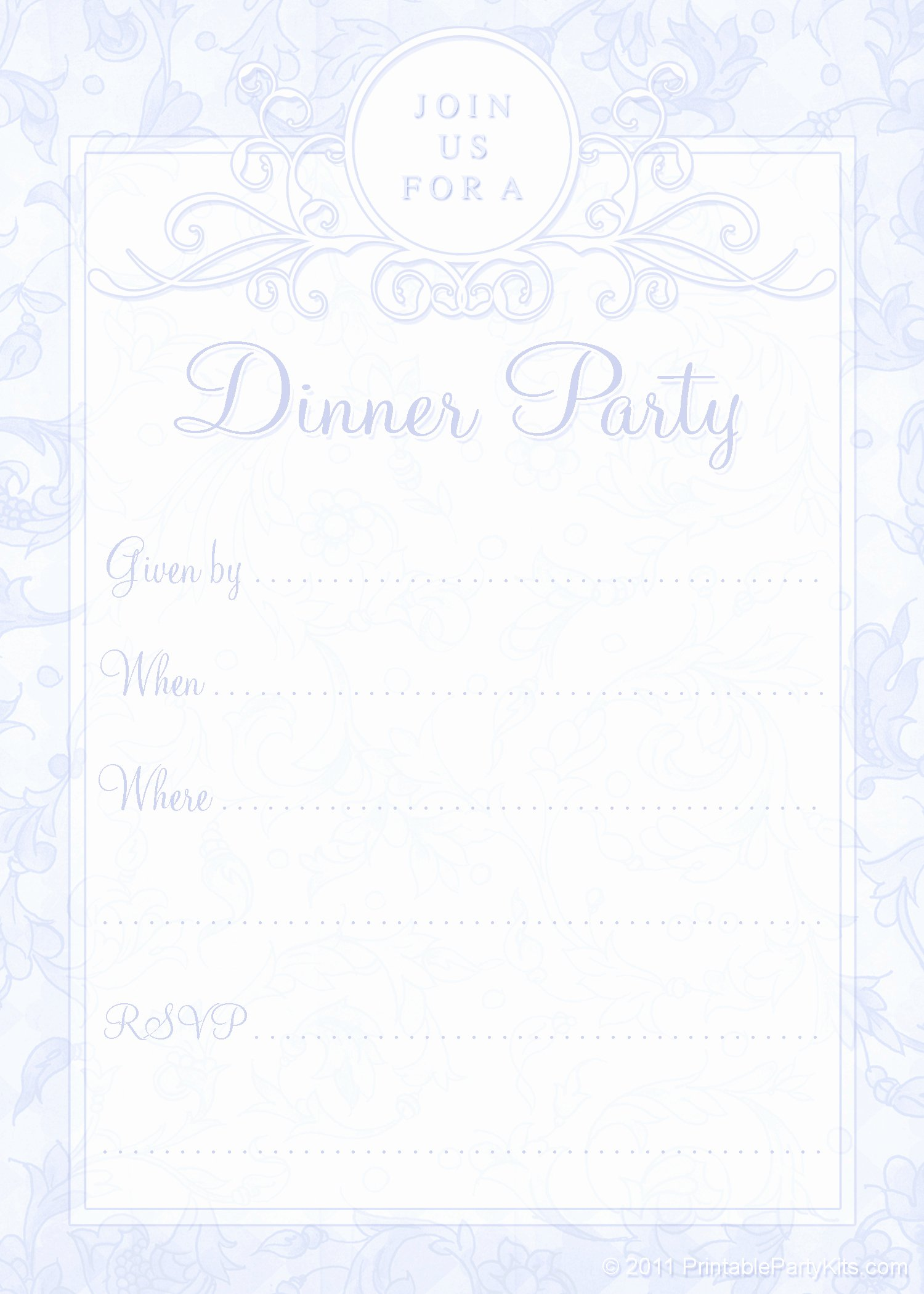 5 Best Of Free Printable Dinner Invitations Free