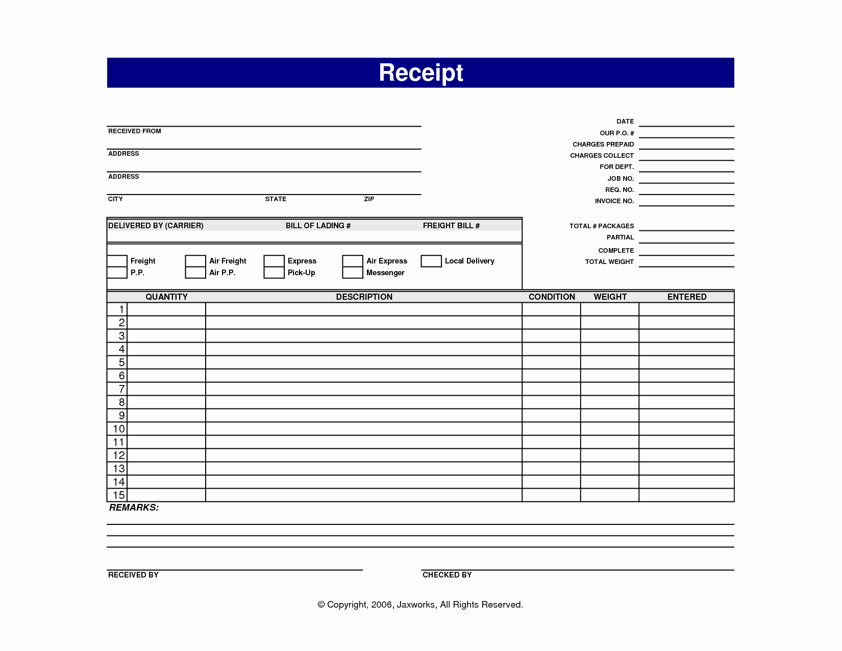 5 Best Of Free Printable Sales Receipt Templates