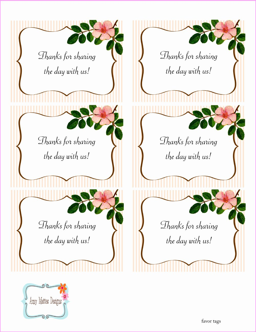5 Best Of Free Printable Wedding Favor Tags