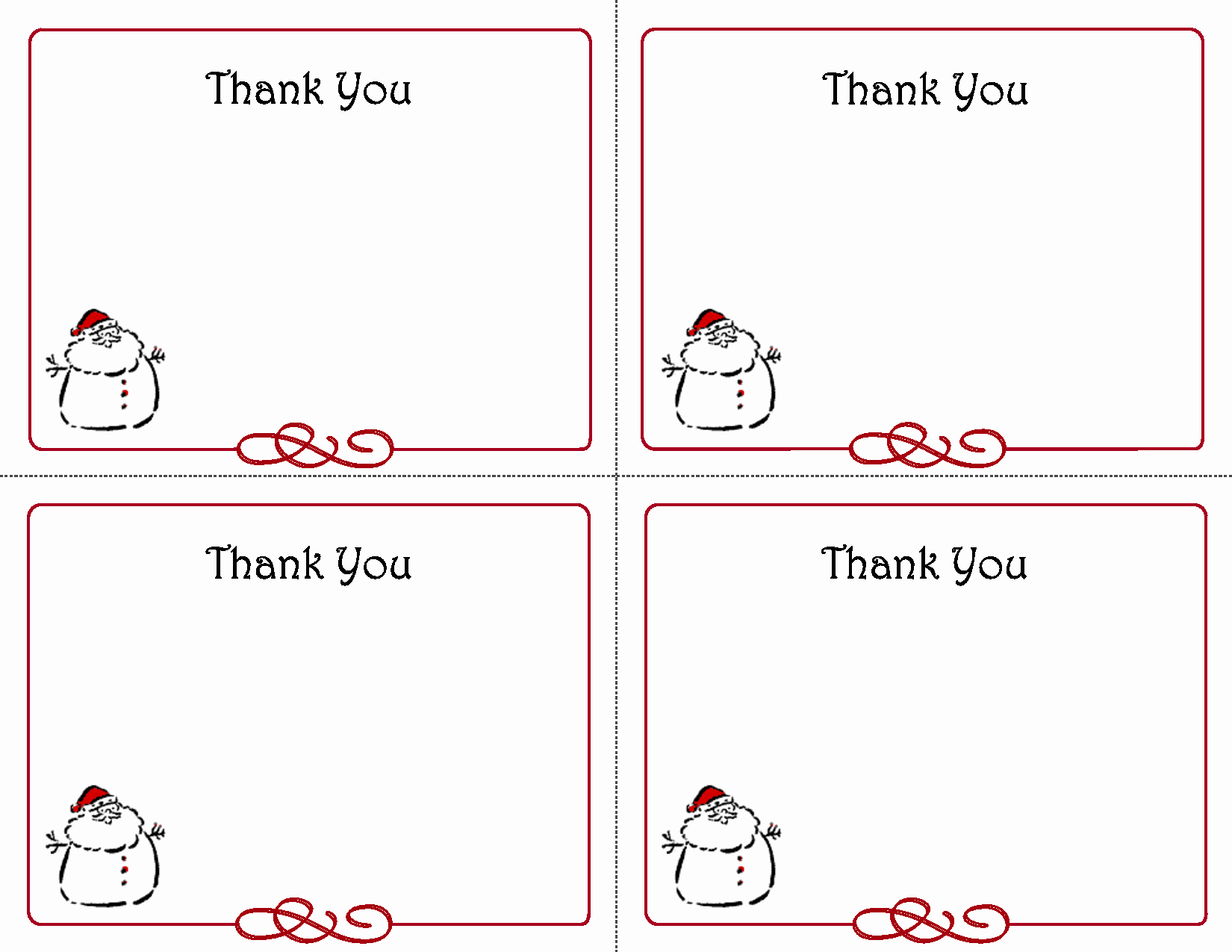 post free printables thank you card template blank