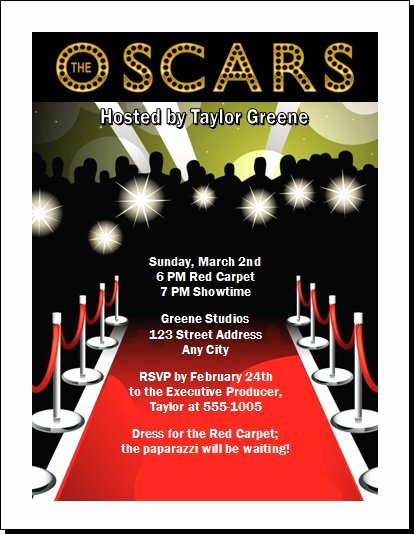 5 Best Of Oscar Party Ticket Vip Template Red