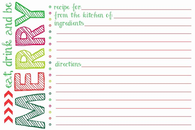 5 Best Of Printable Christmas Recipe Cards Free