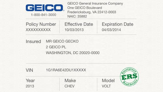 5 Best Of Proof Insurance Card Template Geico
