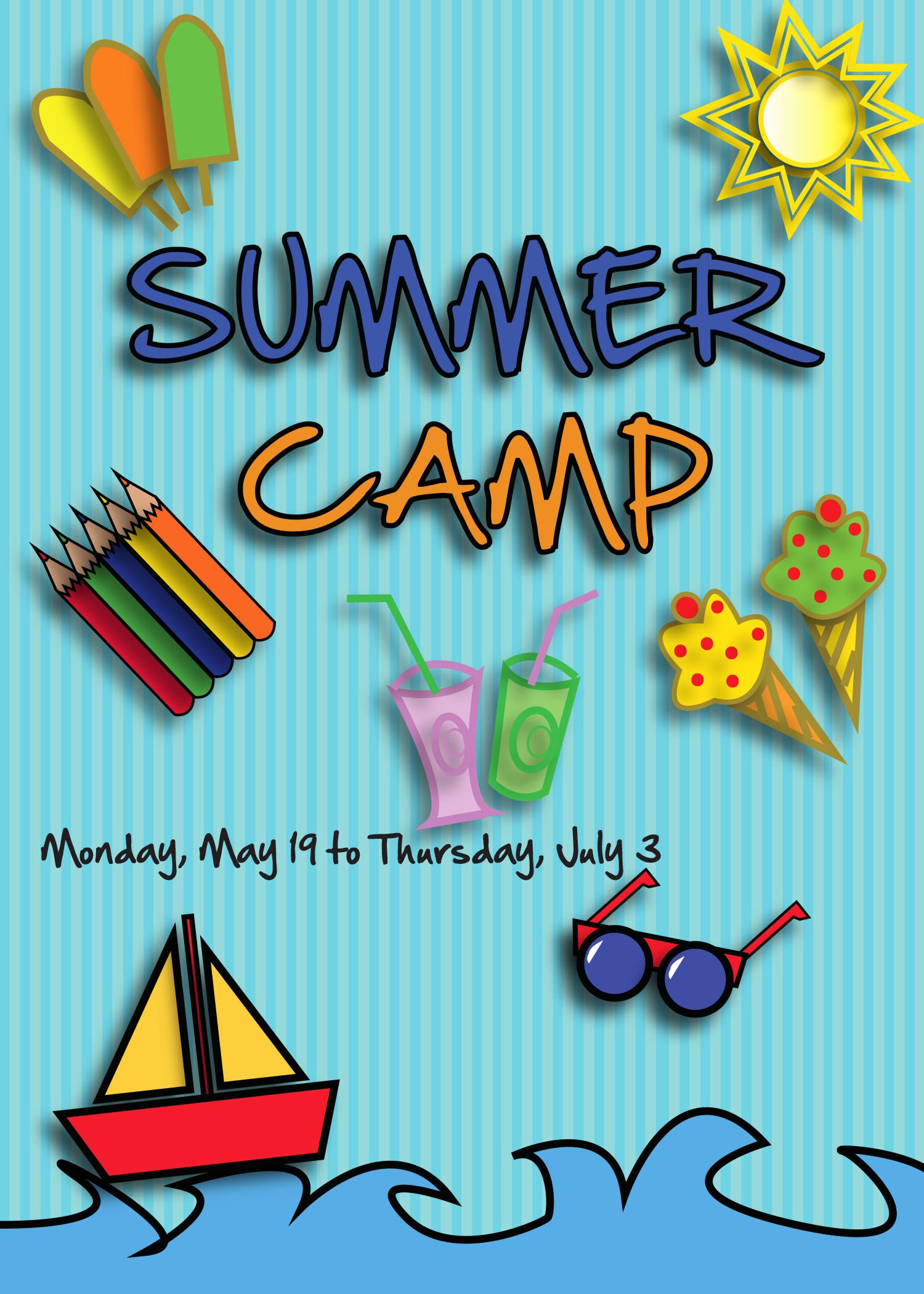 5 Best Of Summer Camp Flyer Template Youth Camp