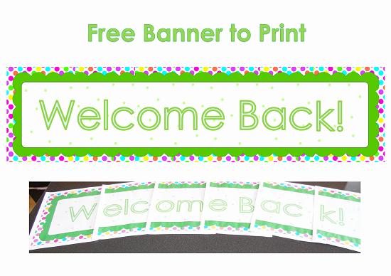 5 Best Of Wel E Back Banner Printable Wel E