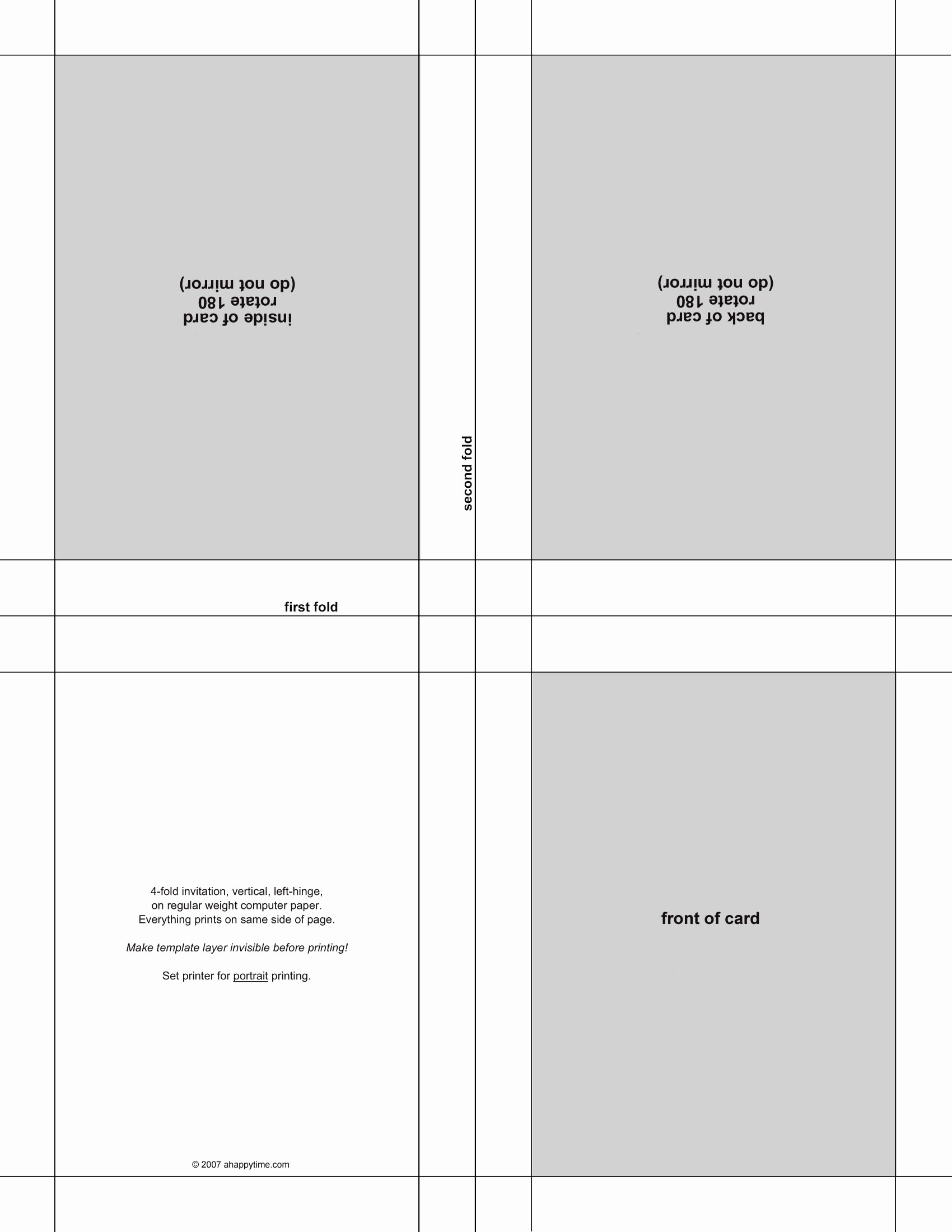 5 Best S Of Postcard Template 4 Per Page Invitation