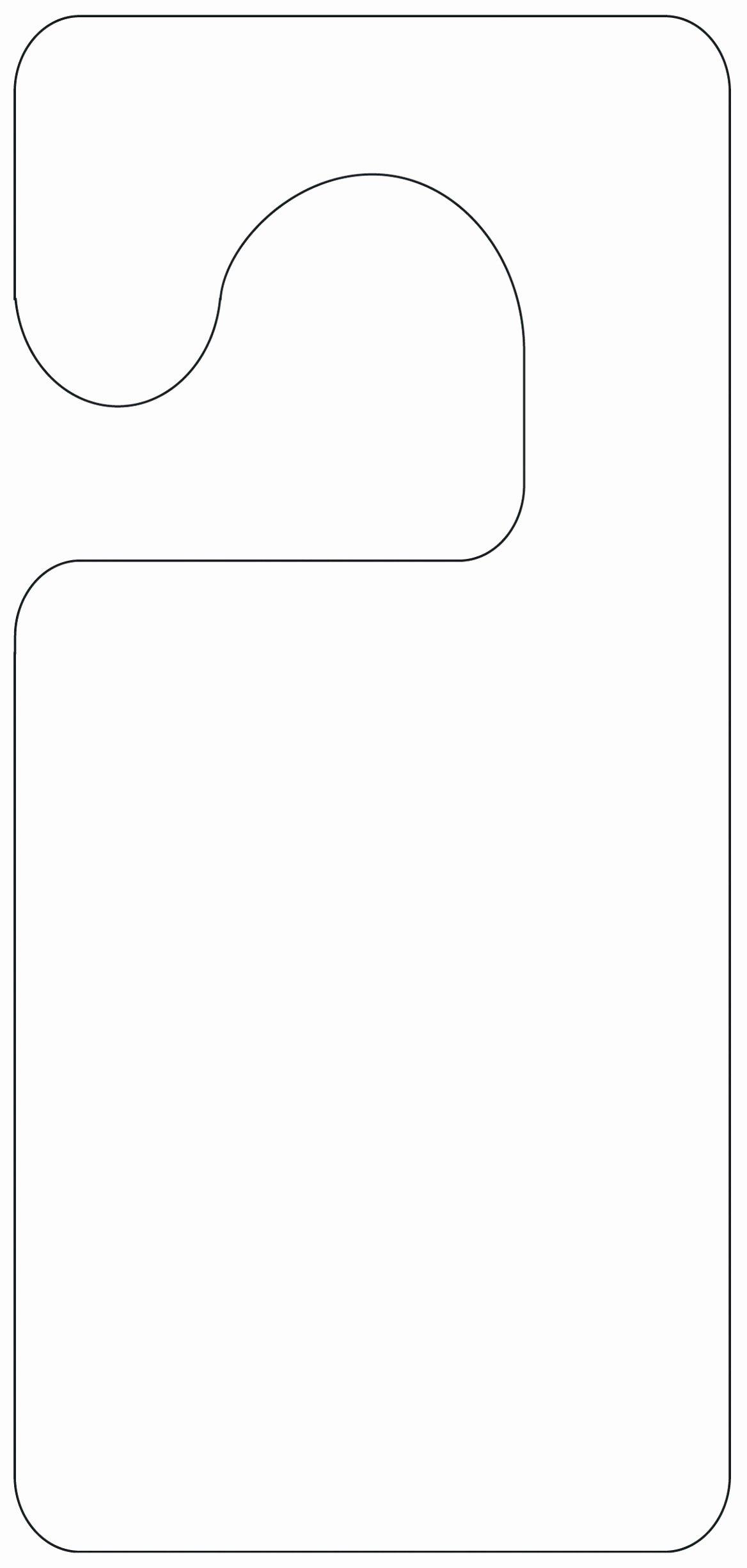 5 Blank Door Hanger Template for Word Uawrc