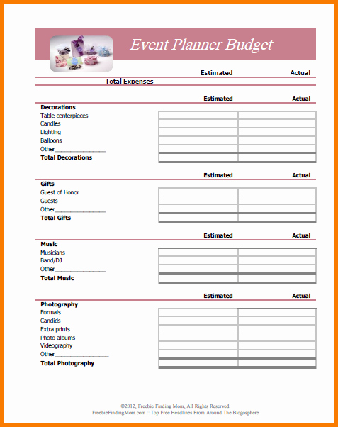 5 Bud Planner Worksheet