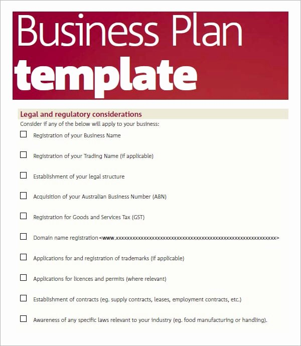 5 Business Plan Templates Word Excel Pdf Templates