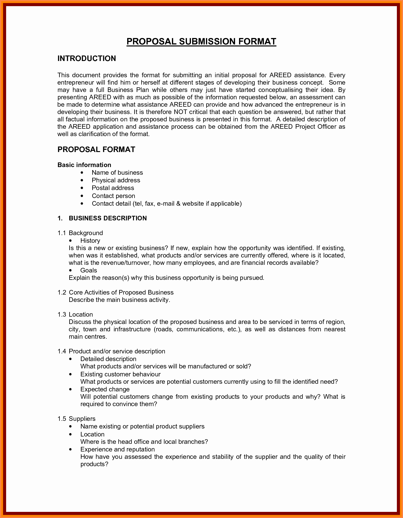 5 Business Proposal format Template