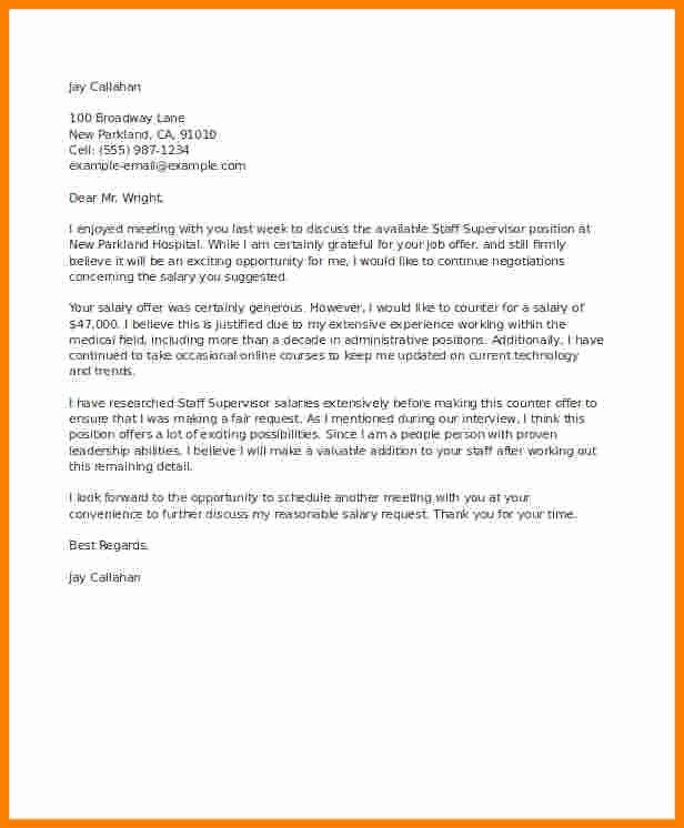 5 Counter Offer Letter Samples