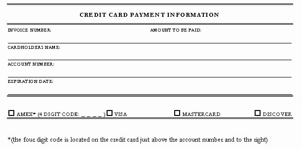 5 Credit Card Authorization form Templates formats