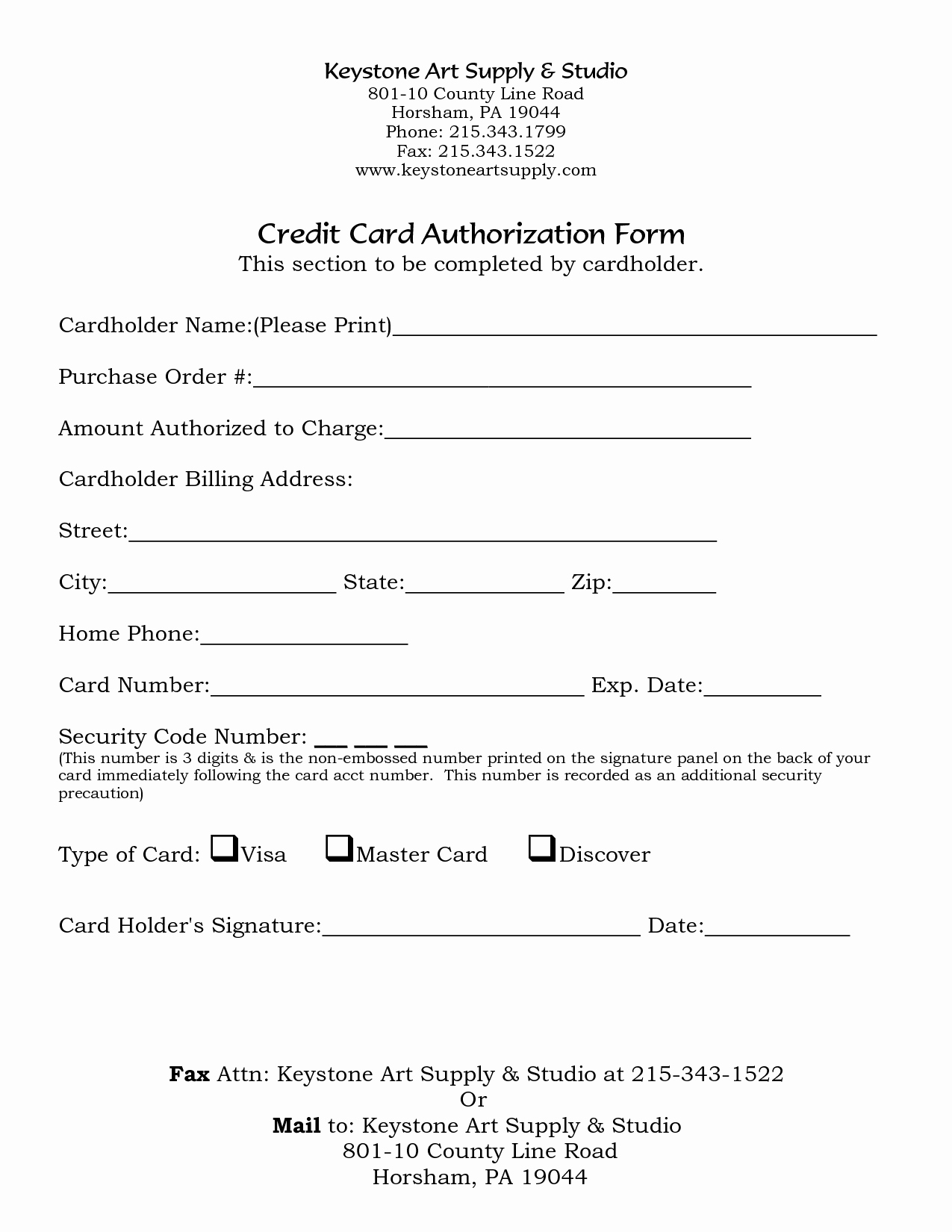 5 credit card form templates