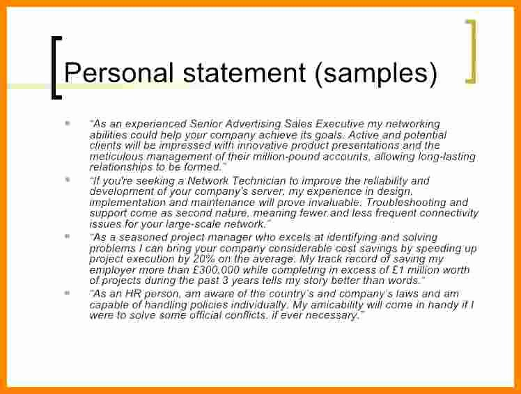 5 Cv Personal Statement Examples Career Change