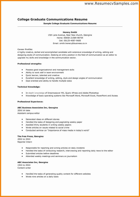 5 Cv Template for Scholarship Application